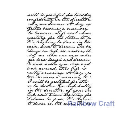 Kaisercraft BACKGROUND STAMPS fishingnet woodgrain Birthday Friend Thank You - Backgournd Script