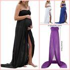 Purple Sleeveless Maxi Maternity Dresses