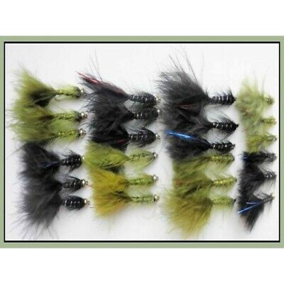 Marabou tail 6 Goldhead MAUVE Fritz weighted size 10 Salmoflies BULK SALE