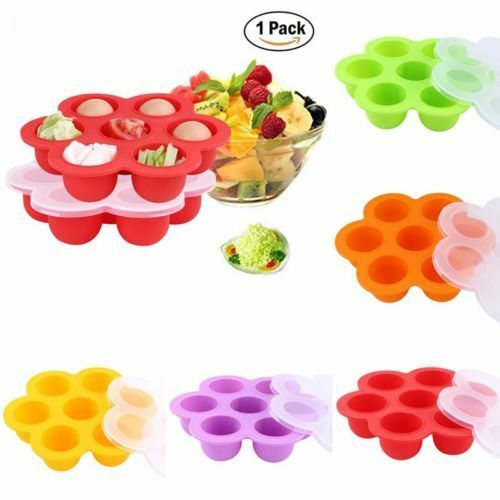 folded silicone baby food storage container