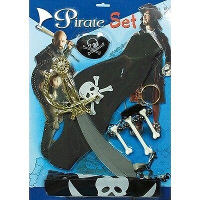 Children's Pirate Set, Long John Silver, Captain Black Beard, Fancy Dress - Captain Blackbeard Kostüm
