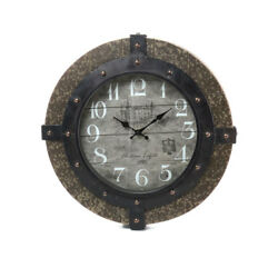 Gaston 17in. Round Clock stylish & modern Wall Clock Great for modern kitchen