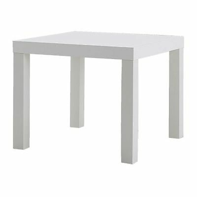 White Side End Table Coffee Bedside Lack Laptop Bed Living Room Nightstand IKEA ()