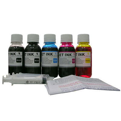 500ml Refill ink for Canon HP Lexmark Brother printer Cartridge Black Color, used for sale  Shipping to India