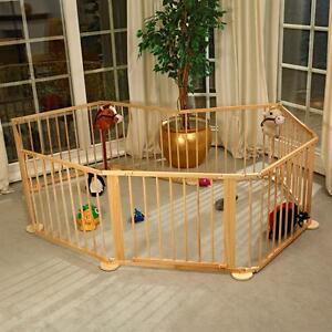 Xxl flessibile box recinto per bambino 7 2m in legno for Recinto per cani in legno