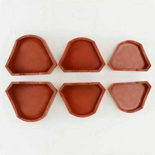 6PCS Dental Lab Red Model Former Base Molds Silicone Plaster Tray with Notches