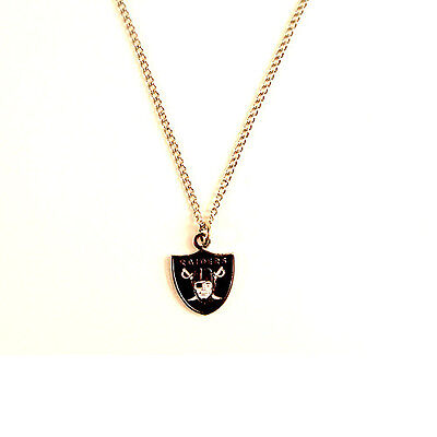 OAKLAND RAIDERS NFL Team Logo Necklace with Chain - FREE U.S. Shipping - Raiders Necklace