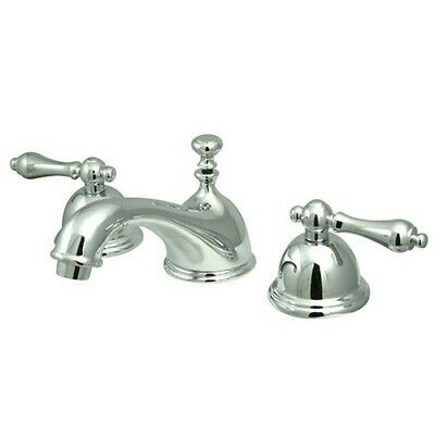 "Kingston Brass KS3961AL 8"" Widespread Bathroom Faucet Polished Chrome"