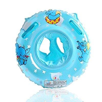 Salvagente Gonfiabile Bebé con Maniglie per Nuoto Bambini Neonati Blu Azzurro