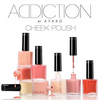 Addiction By Ayako Cheek Polish Full Size   10 Shades Nib