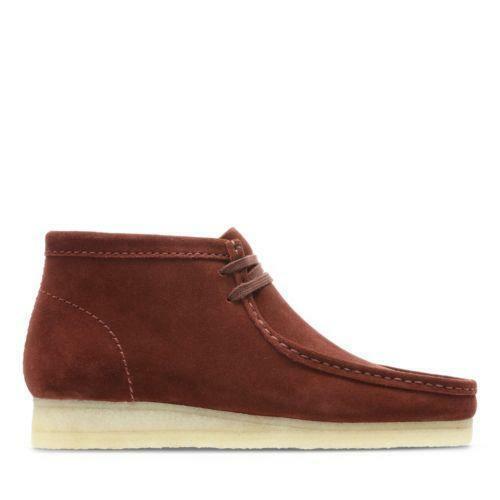 Clarks Originals Wallabee Boot Men's Nut Brown Suede Casual Shoes 26134755