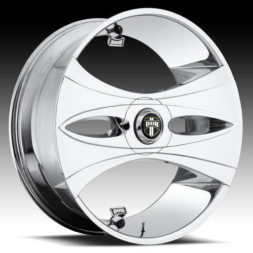 dub rims chrome lug wheel inch spinner 26 rwd spin 28x10 slots