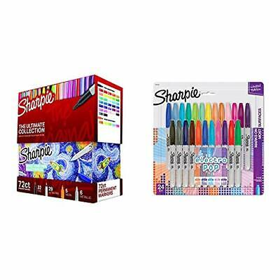 Sharpie Permanent Markers Ultimate Collection Fine and Ultra Fine Points Asso...