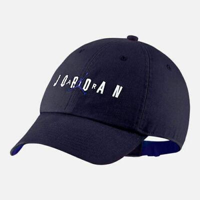 54047df996c98 Nike Air Jordan Hat Heritage 86 Air Strapback Hat Cap AA1306-416 Navy Blue  NWT