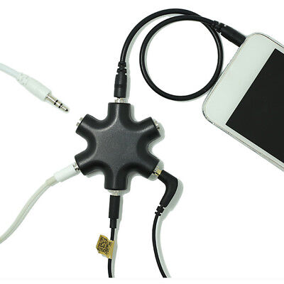 (3.5mm Earphone Headphone Audio Splitter Adapter Connect Cable For Ipod Black FG)