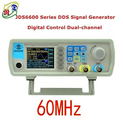 Jds6600 60mhz 2ch Dds Arbitrary Waveform Function Signal Generator Meter