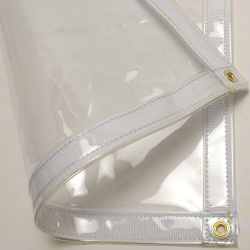 24 mil Heavy Duty Canopy Tarp CLEAR Vinyl Tent Car Boat Cover (5% OFF 2+)