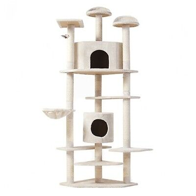 80 Inch Cat Tree Multi-Level Pet House Kitty Condo Scratching Post