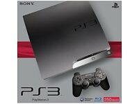 Playstation 3 slim 250gb console with 2 controllers and game