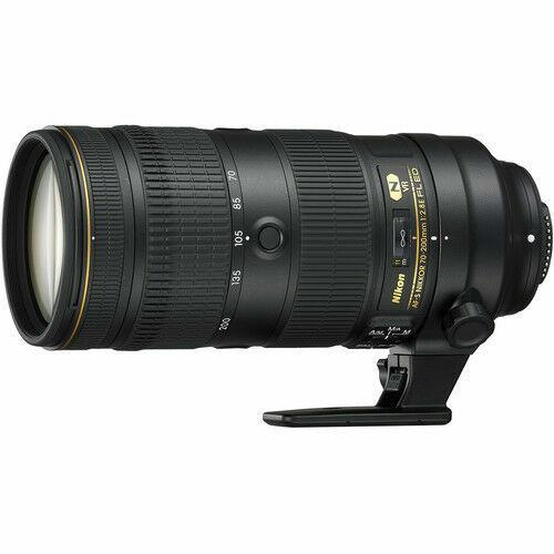Nikon AF-S NIKKOR 70-200mm f/2.8E FL ED VR Telephoto Zoom Lens for Nikon DSLR Cameras Black 20063
