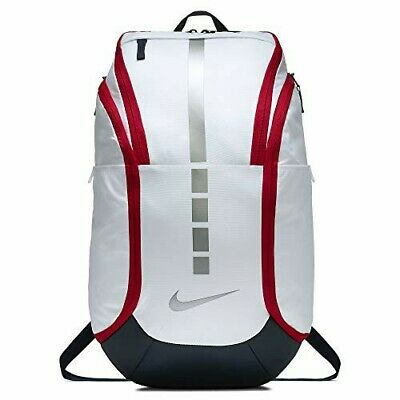New Nike Elite Hoops Pro Basketball Backpack White/Obsidian/Red BA5554-100 NWT