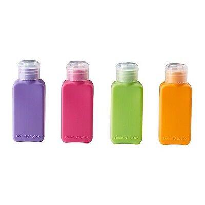 8 x à 100 ml Flaschen Behälter Leerflasche Sport Reise Flughafen Kosmetik Urlaub