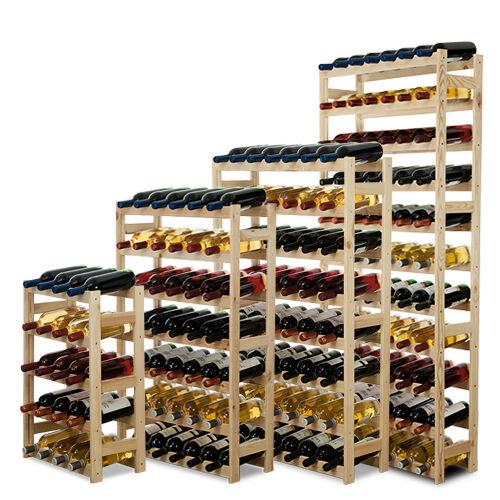 Weinregal Flaschenregal Flaschenständer*für 12-77 Flaschen Kiefer Holz RW-1