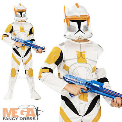 Commander Cody Star Wars Boys Fancy Dress Costume Child Kids Outfit + Mask 3-10 ()