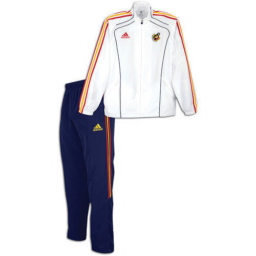 Adidas Spanien Präsentations Anzug Fifa Weltcup 2010 Weißes/Marineblau