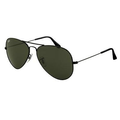 Ray Ban RB3025 Large Aviator Sunglasses - L2823 Black (G-15XLT Lens) - 58mm on Rummage