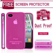 iPhone 4 Case Silicone Pink