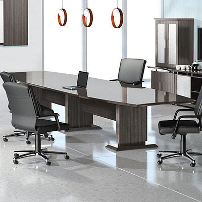 8 - 16 Modern Conference Room Table And Chairs Set Boardroom With 10 12 14 Foot