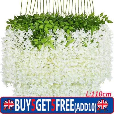 Home Decoration - Artificial Hanging Wisteria Fake Silk Flowers Home Wedding Garden Party Decor