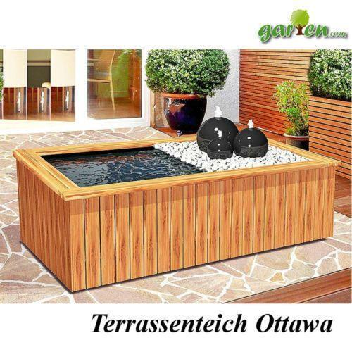 terrassenteich garten terrasse ebay. Black Bedroom Furniture Sets. Home Design Ideas