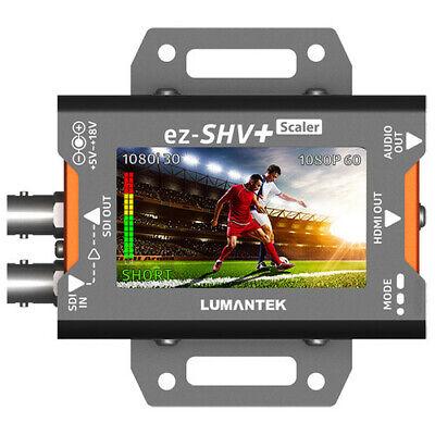 "Lumantek SDI to HDMI Converter with 2.7"" Display and Scaler EZ-SHV+"