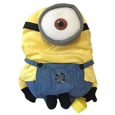 Despicable Me 2 Minion Plush Backpack Stuart 14 inch One Eye Bag - Despicable Me Backpack