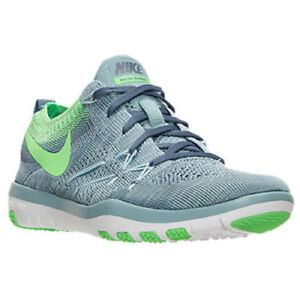 New Nike Free Flyknit Training Shoes 6.5 Blue/Green runner