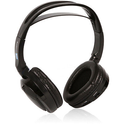 Audiovox Single Channel Wireless FOLD-FLAT Stereo Headphones - Black | MTGHP1CA