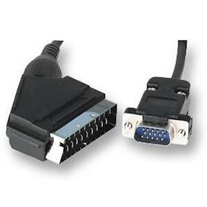 SCART Cable to SVGA VGA 15 PIN HD PLUG Lead 1.5M UK