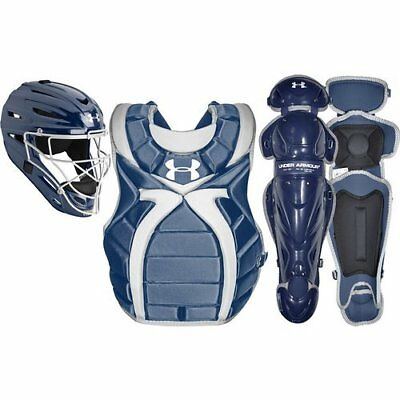 Fastpitch Catchers Gear - Under Armour Youth Girl's 9-12 Fastpitch Catcher's Gear Set - Navy