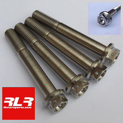 4 Titanium caliper bolts Kawasaki ZX10R (Drilled) M10x70mm 1.25 pitch