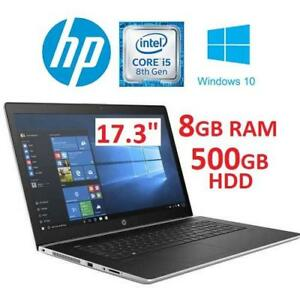 "NEW HP PROBOOK G5 NOTEBOOK LAPTOP 2TT74UT#ABA 183910875 17.3"" I5-8250U 8GB RAM 500GB HDD WIN10"