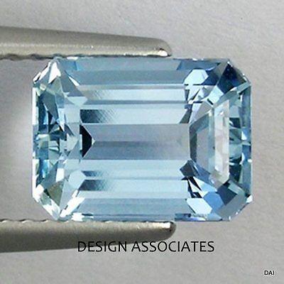 AQUAMARINE 7X5 MM EMERALD CUT OUTSTANDING BLUE COLOR ALL (Natural Aquamarine Emerald)