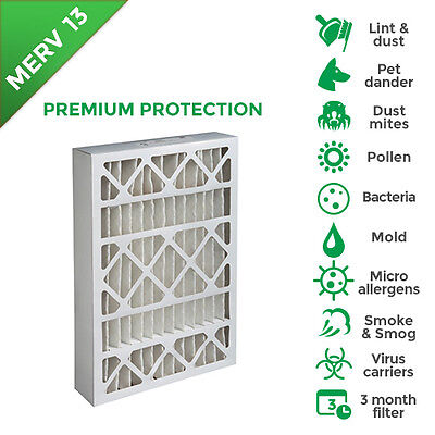 16x20x4 Merv 13 Ac Furnace Air Filters. 2 Pack Actual Depth 3-34
