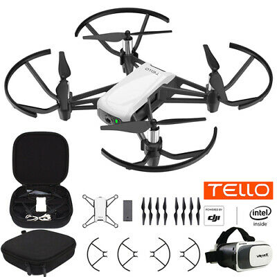 DJI Tello Quadcopter Drone with HD Camera and VR Starter Bundle With Case & Head