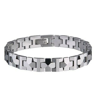"""Our #1 Selling Men's Tungsten Carbide Shiny Polished Bracelet  - NEW - """"PYRAMID"""""""