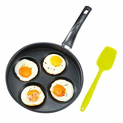 """Iron Egg Frying Pan with Non-Stick Ceramic Coating - 9.8"""" 4 Cup Egg Cooker Pa..."""