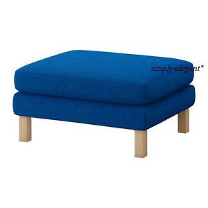 new ikea slipcover for karlstad footstool cover for. Black Bedroom Furniture Sets. Home Design Ideas