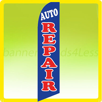 Auto Repair Swooper Flag Feather Flutter Banner Sign 11.5 - Bb