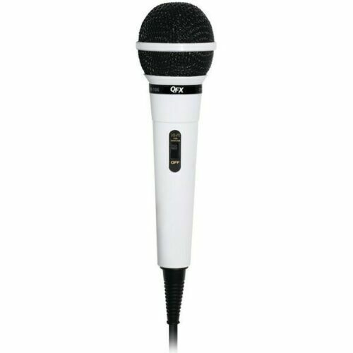 QFX M-106 Unidirectional Wired Dynamic Vocal Karaoke Microphone 10 Ft. Cable NEW